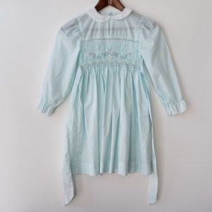 Vintage Polly Flinders Girls 8 Smocked Dress